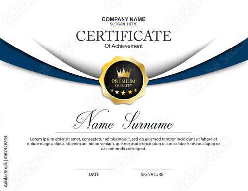 Fotografía  Vector certificate template