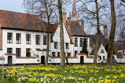 Stickers pour portes Bruges Bruges beguinage