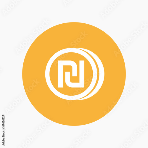 Shekel Coin Icon Israeli Currency Symbol Buy This Stock Vector
