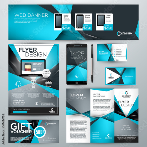 Set of stationery design templates corporate identity with abstract set of stationery design templates corporate identity with abstract vector background web banner cheaphphosting Images