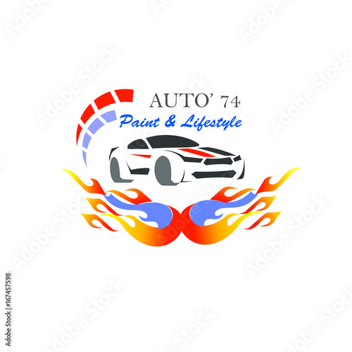 Set Of Modern Car Emblems Badges And Icons Modern Sports Car Silhouette Logo Design Template Car Repair And Service Company Logotype Buy This Stock Vector And Explore Similar Vectors At Adobe