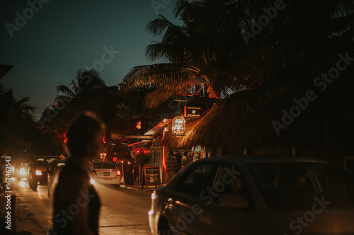 Nightlife in tropical city