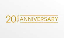 20 Years Anniversary Emblem. A...