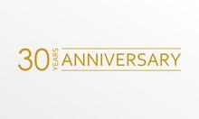 30 Years Anniversary Emblem. A...
