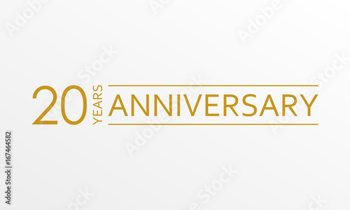 Photo  20 years anniversary emblem