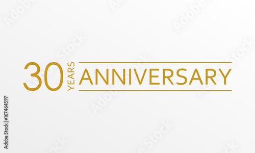 Papel de parede 30 years anniversary emblem