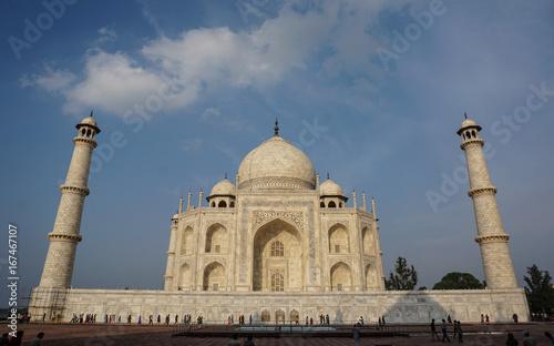 Poster Artistiek mon. Taj Mahal in Agra, India