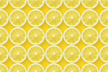 Lemon Slices Over Yellow