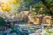 canvas print picture - Aussicht auf den Hafen von Portofino, Ligurische Riviera, Italien