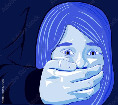 Fotografie, Obraz  Bambina abuso, maltrattamento, picchiare, ragazza, bambina, violenza sulle donne