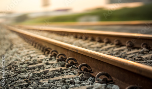 Railroad tracks.
