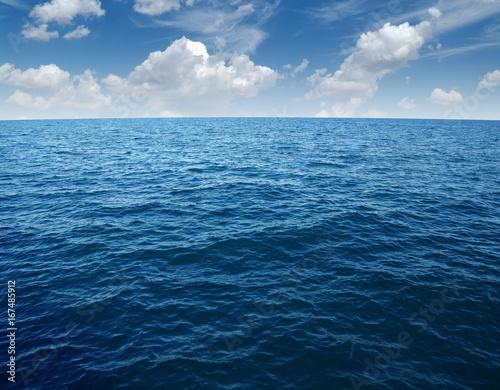 Poster Zee / Oceaan Blue sea water surface