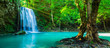 canvas print picture The beautiful waterfall at deep tropical rain forest.