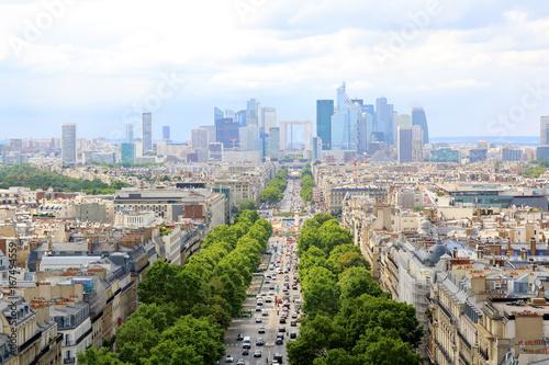 Papiers peints Paris Skyline of Paris city towards La Defense district