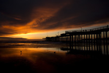 Sunset At Pismo Beach Pier (Pa...