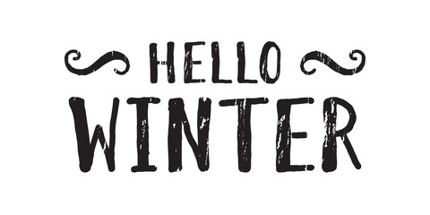 Hello winter inscription.