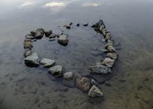 Heart Rock In Lake