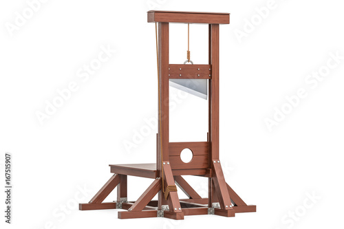 guillotine, 3D rendering Canvas Print