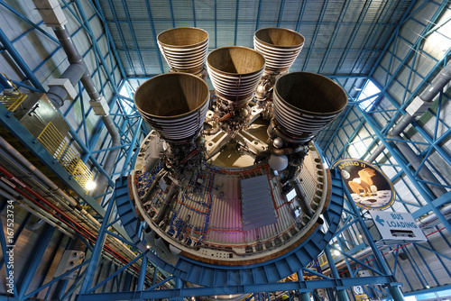 Aluminium Prints Nasa Saturn V Rocket Engine