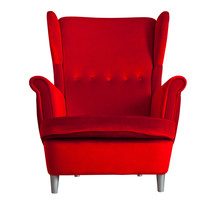 Red Textile Chair Isolated On ...