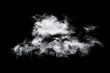 Leinwandbild Motiv clouds on black background