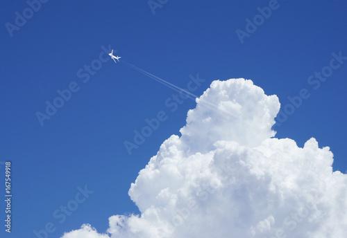 Fotografie, Obraz  ジェット機と入道雲