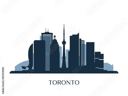 Obrazy Toronto  toronto-skyline-monochrome-silhouette-vector-illustration