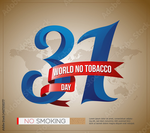 31 May World No Tobacco Day Logo Poster Banner Design With Stylish Text And World Map Background Buy This Stock Vector And Explore Similar Vectors At Adobe Stock Adobe Stock