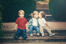 Group Of Three Cute Funny Ador...