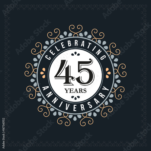 Photographie  45 years anniversary design template