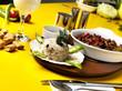 canvas print picture - restaurantta muhteşem yemekler