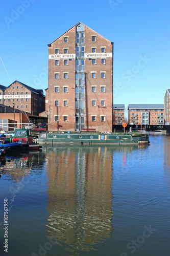 Warehouse in Gloucester Docks Canvas Print