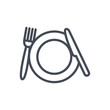 Wedding colored icon plate kitchen fork knife