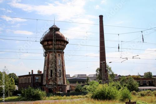 Foto op Canvas Oude gebouw Wasserturm in Köthen