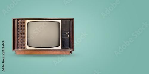 Papel de parede Retro television - old vintage tv on color background
