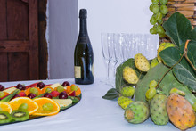 Composition Of Fruit And Cut G...