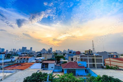 Manila skyline on Aug 12, 2017 in the Philippines