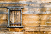 Weathered Wooden Wall With Shu...