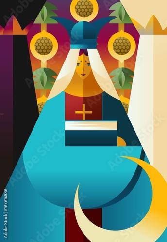 Cuadros en Lienzo second tarot card the high priestess popess