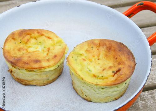 palet de courgettes aux fromage crémeux