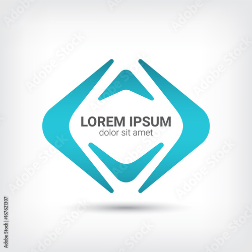 Photo boomerang vector logo design template, angle icon, corner sign, boomerang symbol