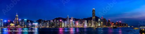 Foto op Canvas Hong-Kong 香港の夜景・大パノラマ