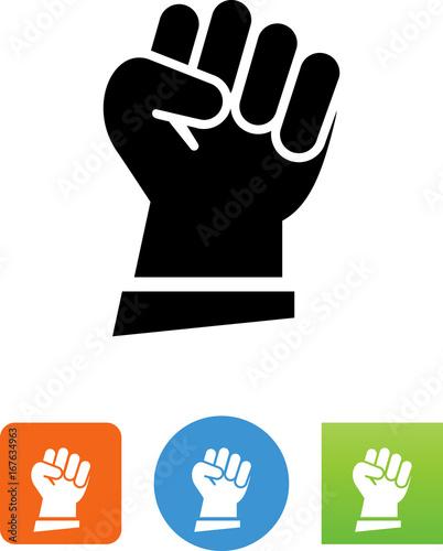 Fotografija  Raised Fist Icon - Illustration