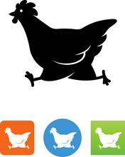 Running Chicken Icon