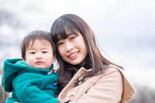 Fotografie, Tablou  親子・男の子(屋外・公園)