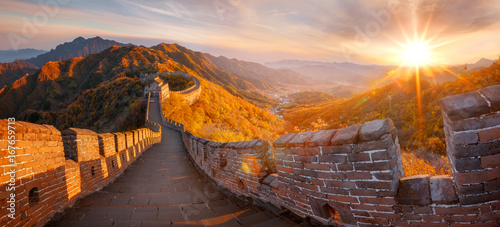 In de dag Chinese Muur Great Wall of China