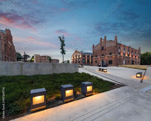 Silesian Museum after sunset.