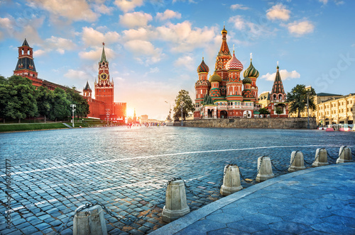 Вечерний свет на Красной Площади Evening light on Red Square Wallpaper Mural