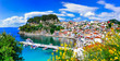 canvas print picture - Beautiful colorful towns of Greece - Parga. Popular for summer vacations