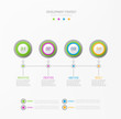 Vector abstract element for business.Strategy in stages.Steps of development, teamwork.Business concept illustrated in four stages, parts,steps.Graph, diagram, presentation infographic template